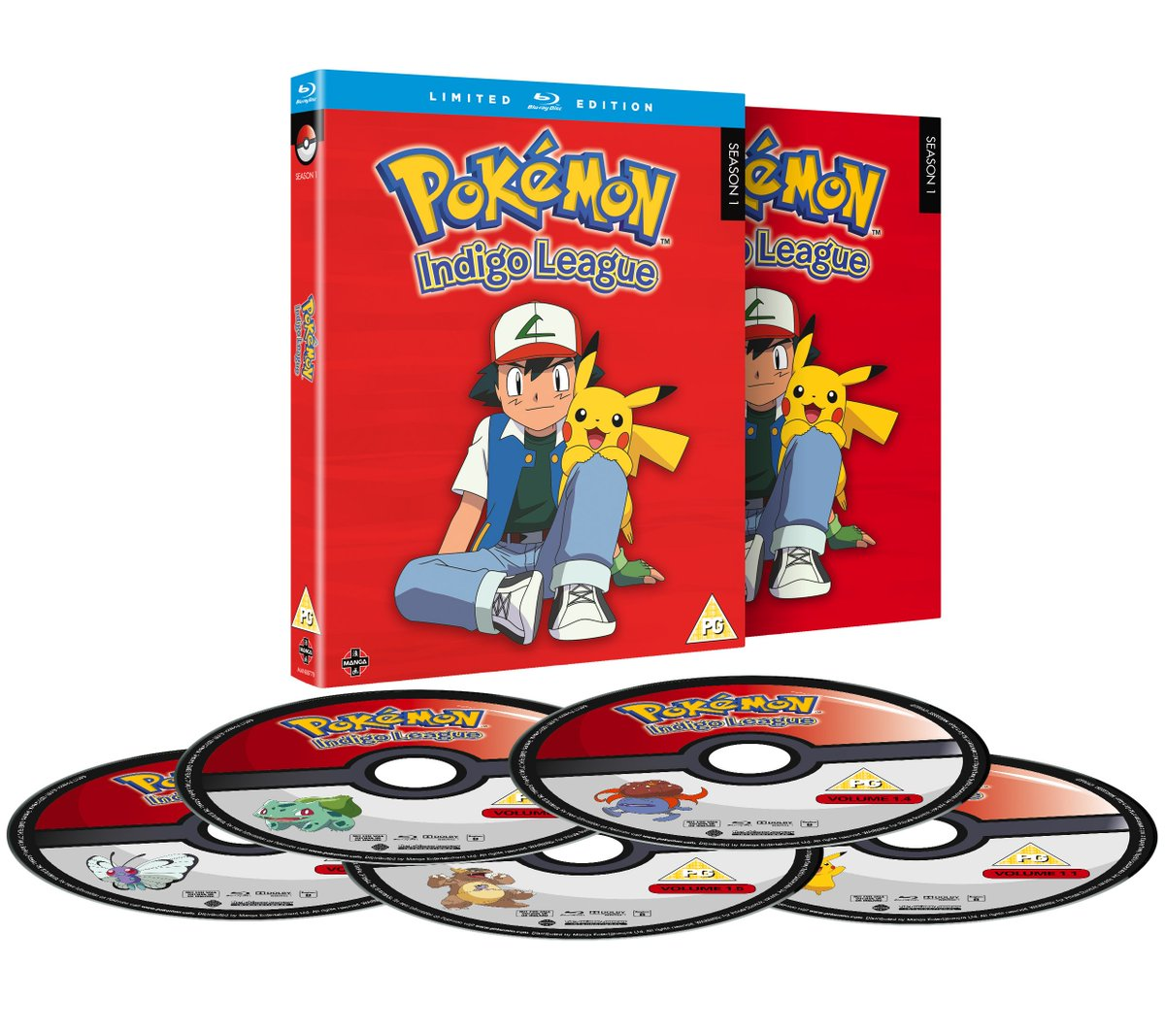 Image result for POKEMON INDIGO LEAGUE UK BLU-RAY MANGAUK