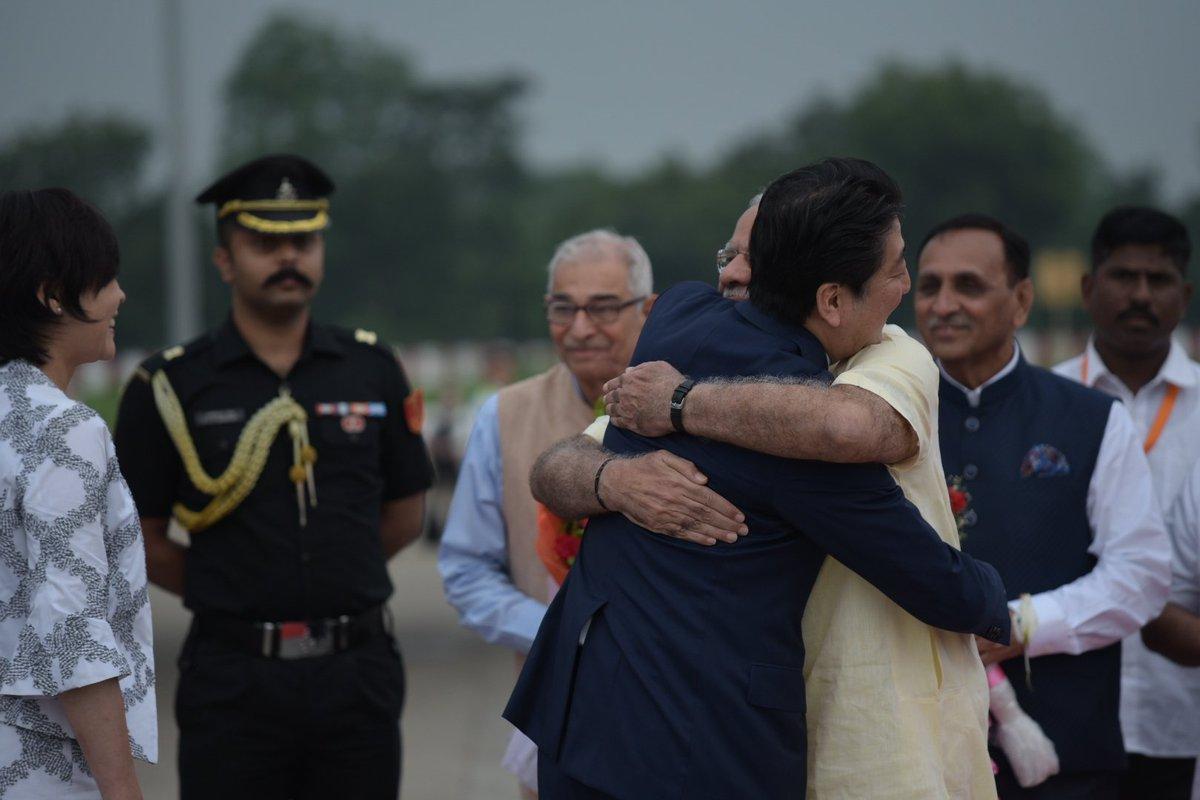 '@narendramodi: Welcomed Mrs. Abe and PM @AbeShinzo to India. #SwagatS...