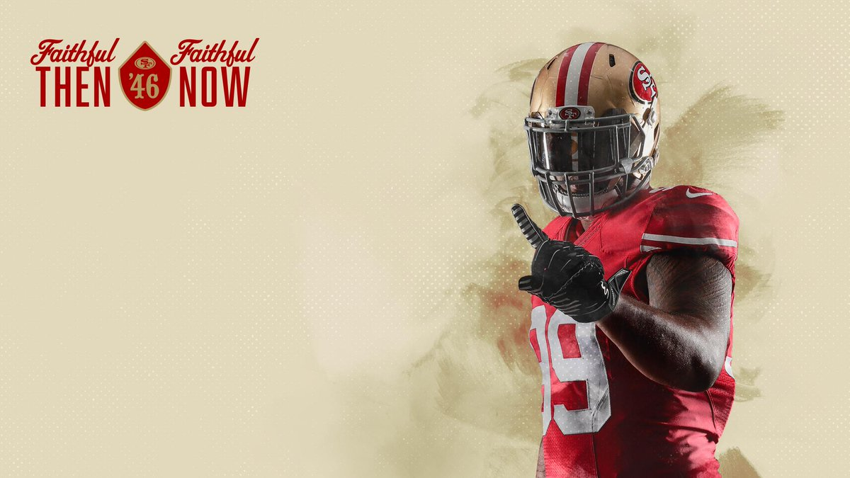 """San Francisco 49ers on Twitter: """"New wallpapers for your 📱 & 💻 just added! Download: https://t.co/nFThM3qk0R… """""""