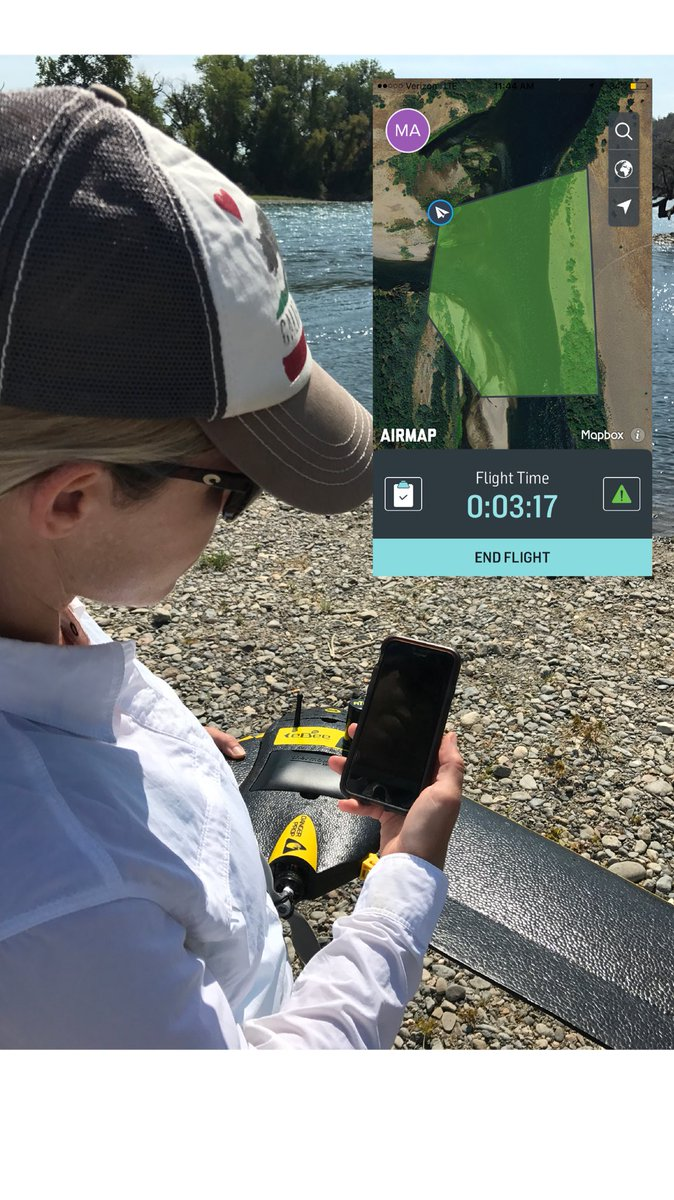 Using @AirMapIO in the field prior to launching our @sensefly eBee for Sacramento River habitat mapping #eBee #drones<br>http://pic.twitter.com/HH5c0tpU4O