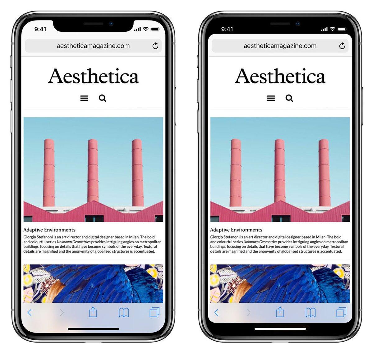 右边的设计更舒服。不过人性就是喜新厌旧,右边的设计更无聊。图片来自 @ChrisPirillo https://t.co/JG93XNCV54 1