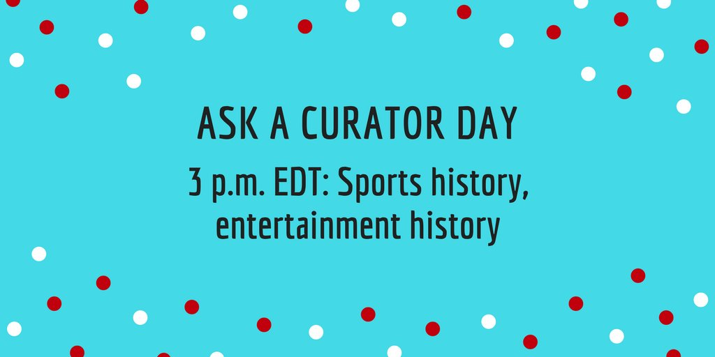 Our last #AskACurator shift starts NOW. Questions for  @pasttimecurator and Hanna on Phyllis Diller, board games, sports history, and more?