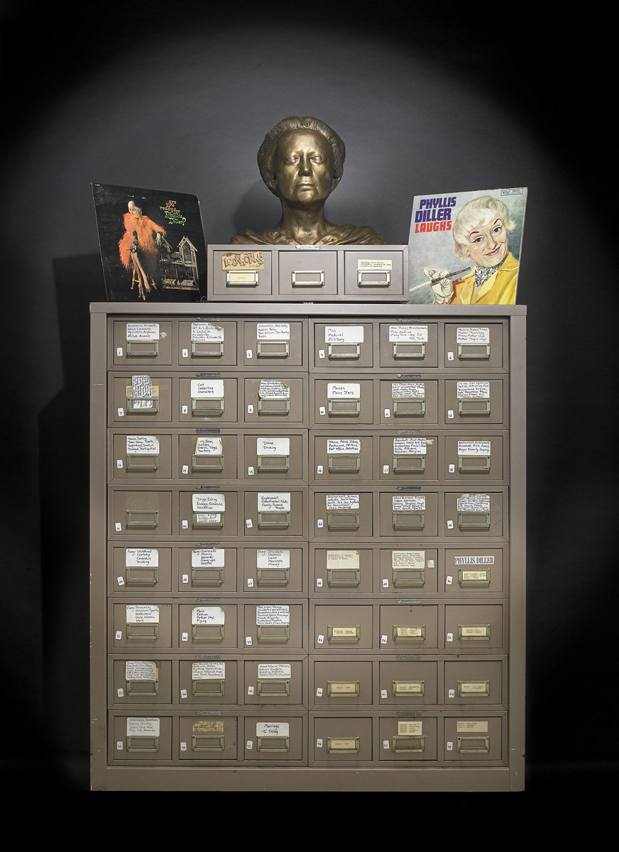 @nickmoreau Great question! Phyllis Diller donated her joke file before her death. We got it in 2003. Will check on copyright! #AskACurator  https://t.c