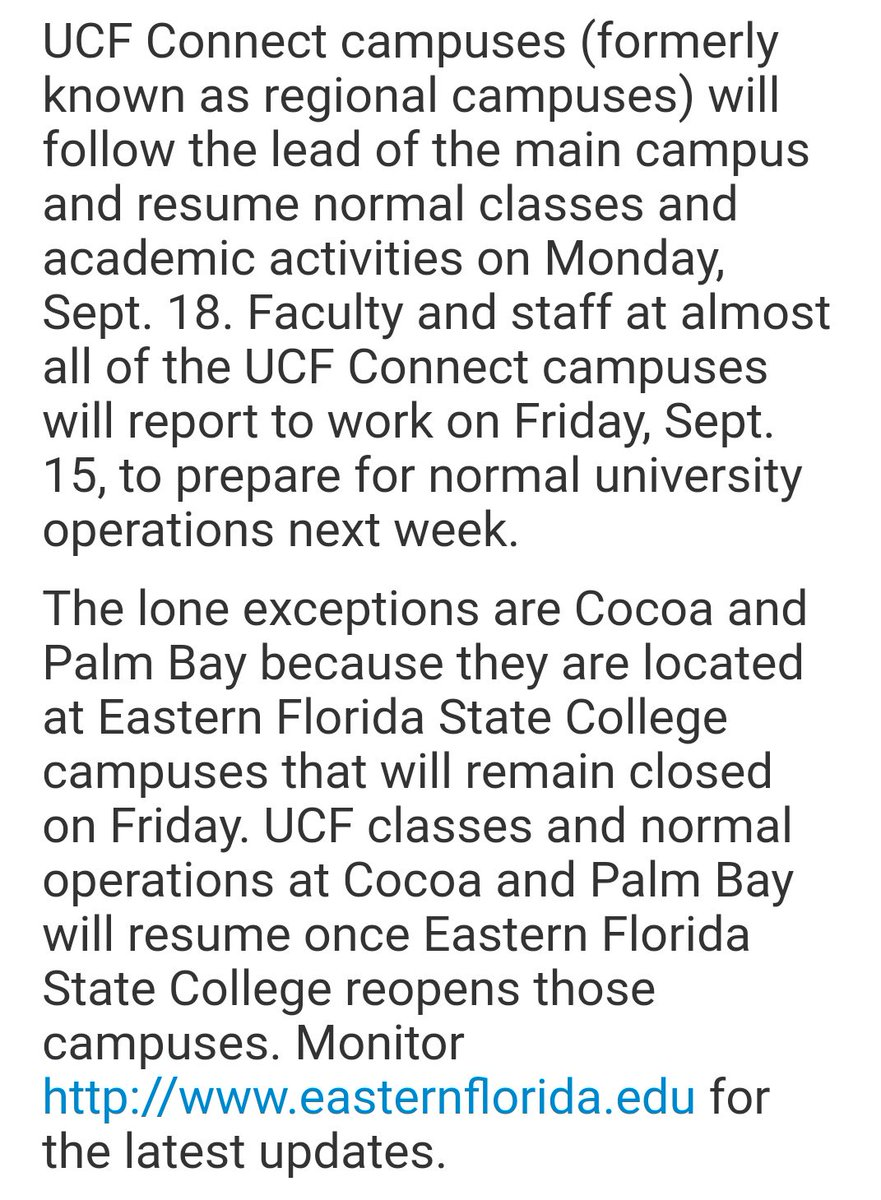 Ucf On Twitter Ucf Regional Campuses Will Follow The Lead Of The