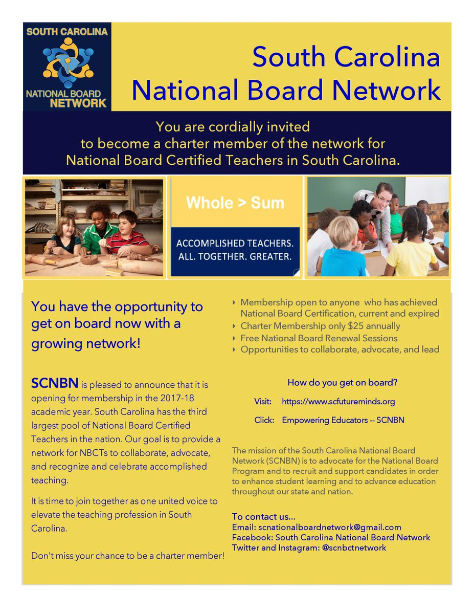 National Board On Twitter Check It Out South Carolina Teachers