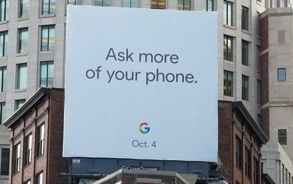 New billboard suggests Google are set to unveil the next gen Pixel phones on October 4 https://t.co/eViEHEdO45 https://t.co/DrQ6bXPFmP