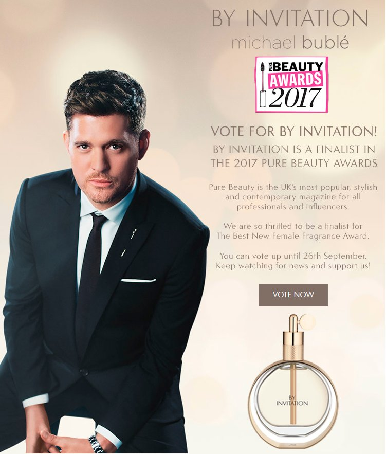 michael bubl on twitter byinvitation is a finalist for best new female fragrance in the purebeautymag awards vote now httpstcojsuxaowvzu