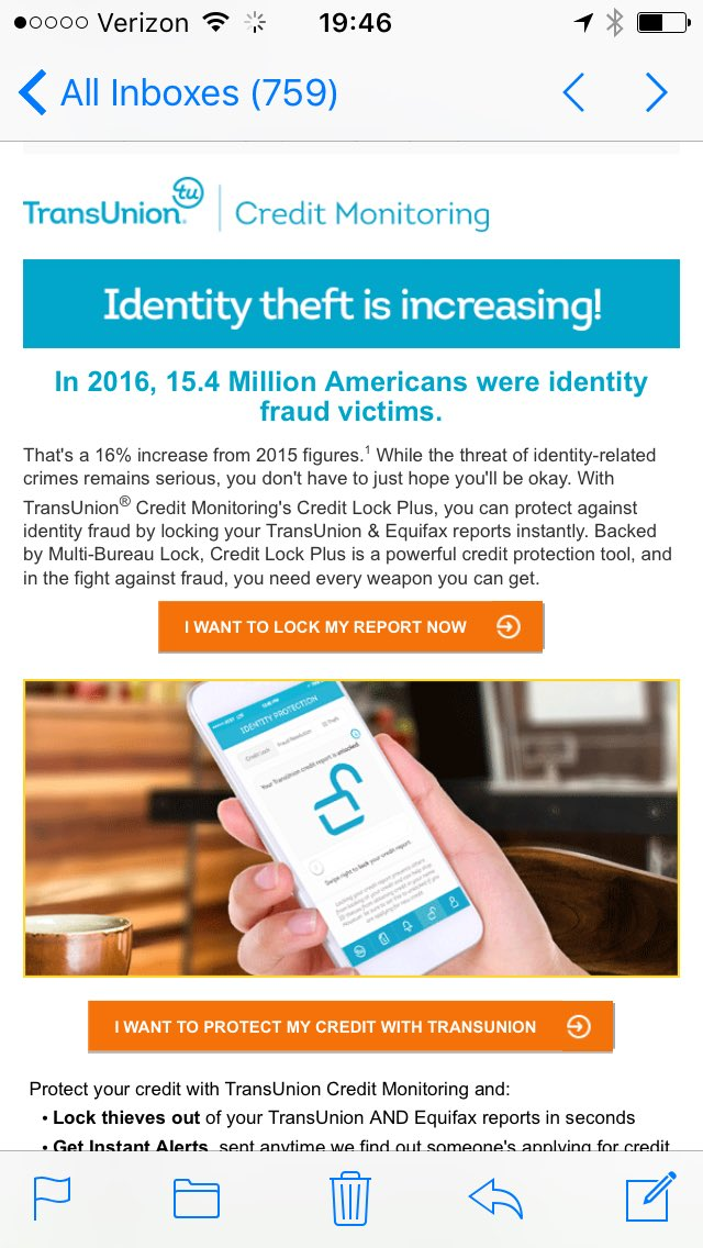 Thanks for this nefarious email SINCE I STILL CAN&#39;T LOCK MY CREDIT via any channel offered #oligarchies aren&#39;t consumer friendly #Equifax<br>http://pic.twitter.com/ZW2jhXgA7g