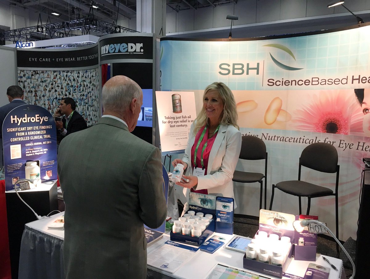 Come learn about HydroEye Softgels, clinically tested #dryeye relief at #VisionExpoWest - Science Based Health Booth MS5053 #Optometry <br>http://pic.twitter.com/yHJLifBnCT