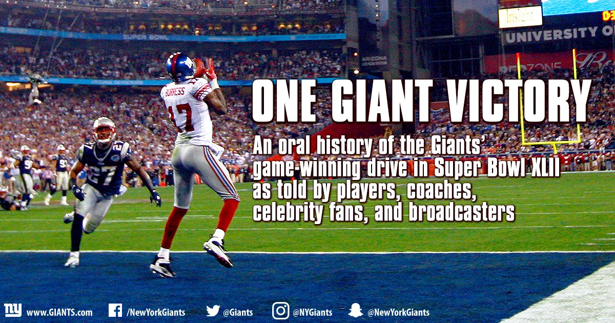 New York Giants On Twitter An Oral History Of The Giants
