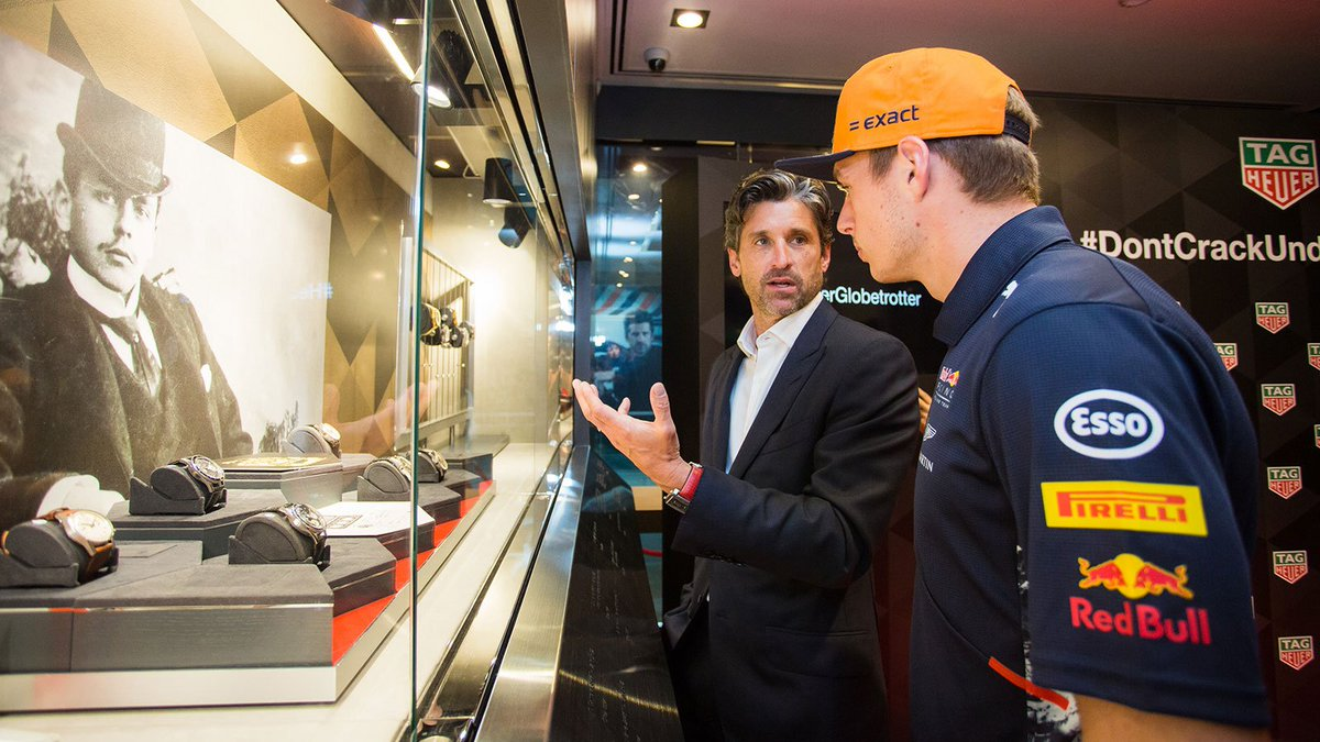 Red Bull Racing On Twitter Max And At Patrickdempsey Help Launch The
