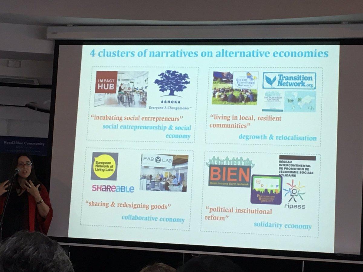 4 narratives of how #socinn initiatives relate to economy @TransitSI @FlorAvelino<br>http://pic.twitter.com/1esGnjEAyb
