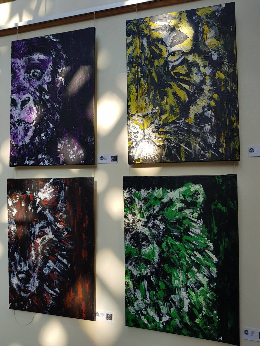 These fantastic Marily Valkijainen #acrylics are here with #Association of #Animal #Artists until 4th October #station #art<br>http://pic.twitter.com/d9LB5GsQnh