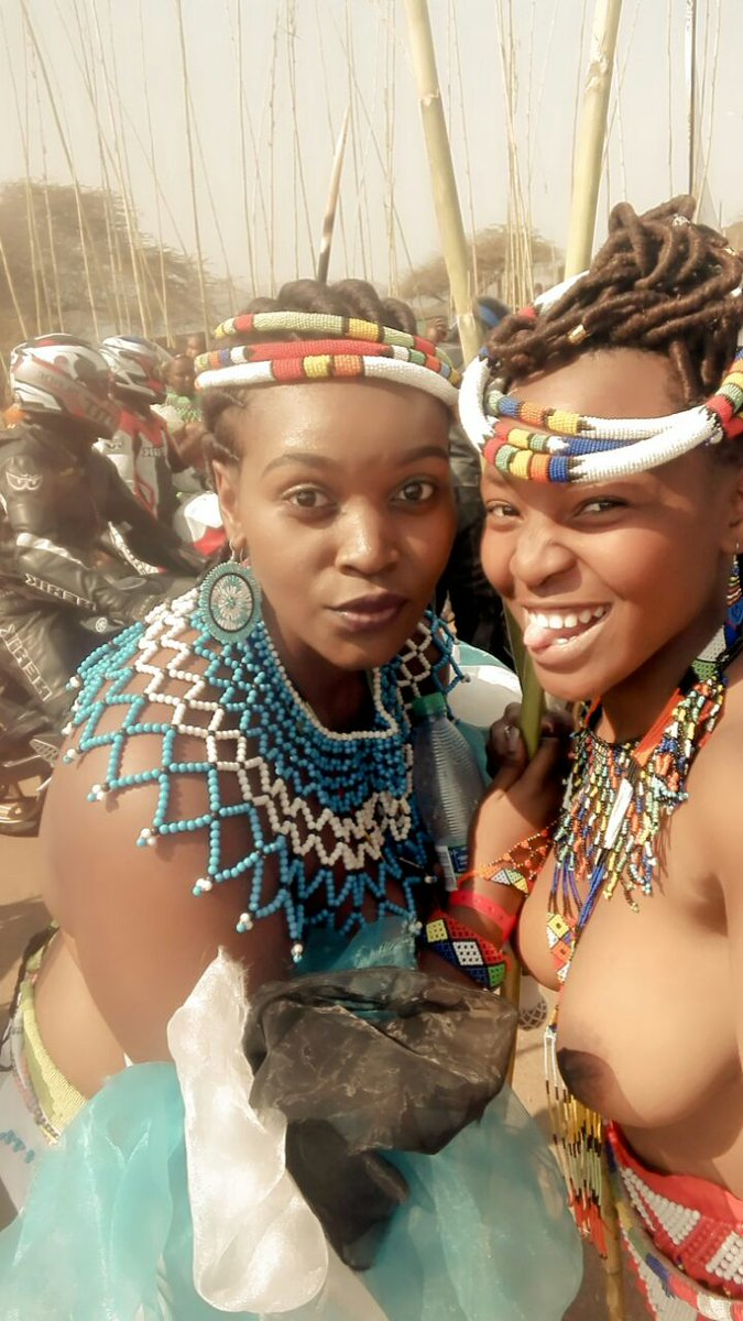 Right! South african reed dance girls congratulate