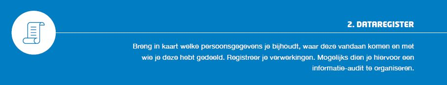 #Stap2 Register #13stappenplan #AVG #GDPR Themadossier:  https://www. privacycommission.be/nl/register-va n-de-verwerkingsactiviteiten-0 &nbsp; …  FAQ:  https://www. privacycommission.be/nl/faq-page/10 573 &nbsp; … <br>http://pic.twitter.com/7jGllugPzI