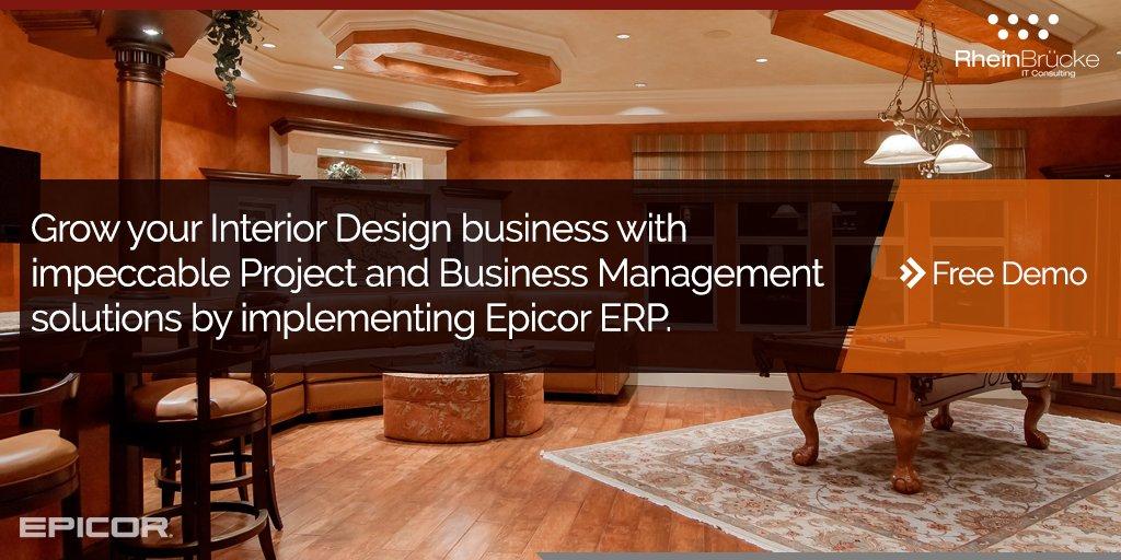 Transform your interior design business with #Epicor #ERP! -  https:// goo.gl/UWuNiG  &nbsp;    #Implementation #Interiordesign #projectmanagement<br>http://pic.twitter.com/AAZINc8BZl