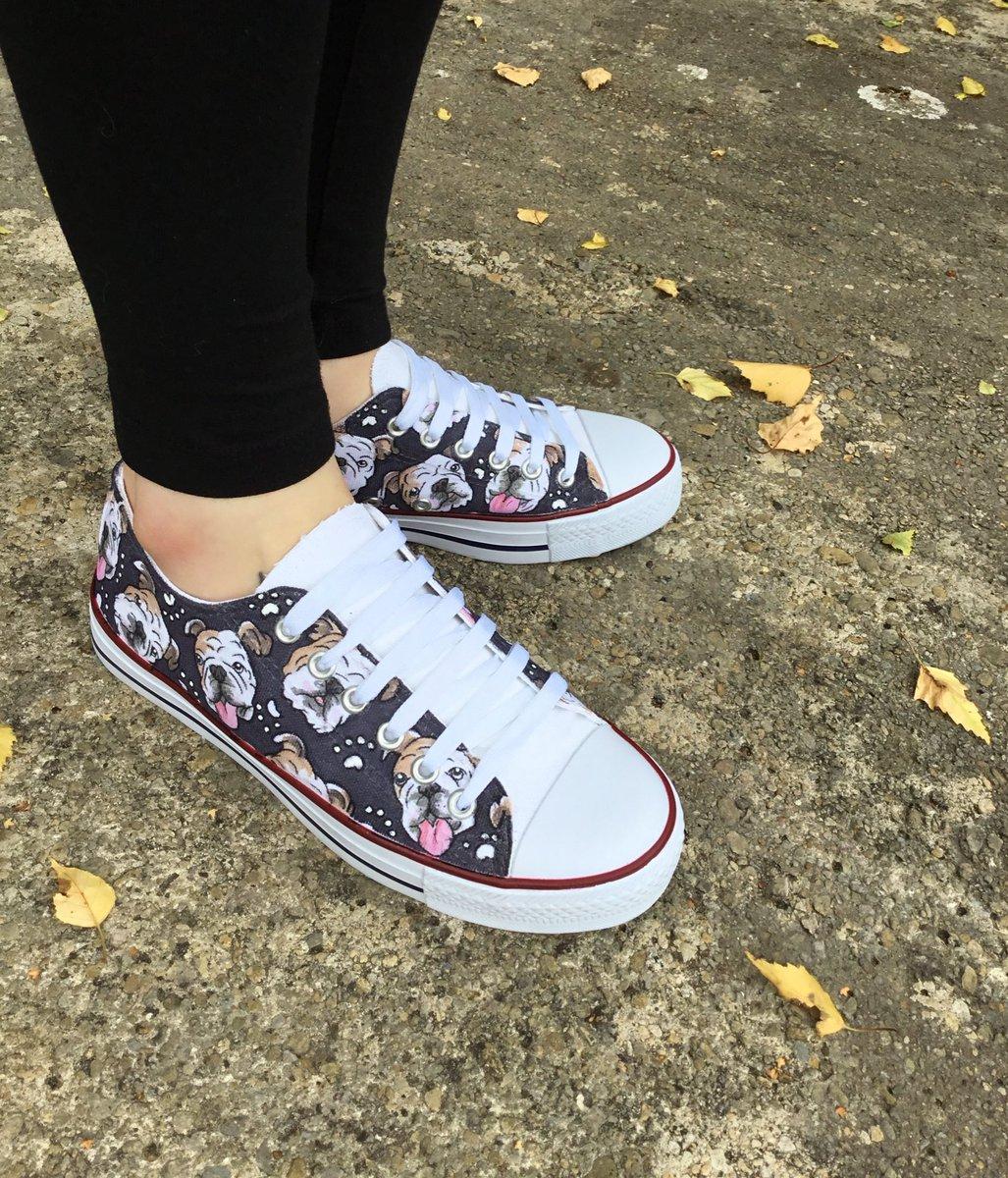 More custom shoes. Get your own pair from my Etsy shop.  http:// gemsville.etsy.com  &nbsp;   #custom #shoes #shoeart #pet #portrait #dogs #illustration<br>http://pic.twitter.com/xXBEfMknjq