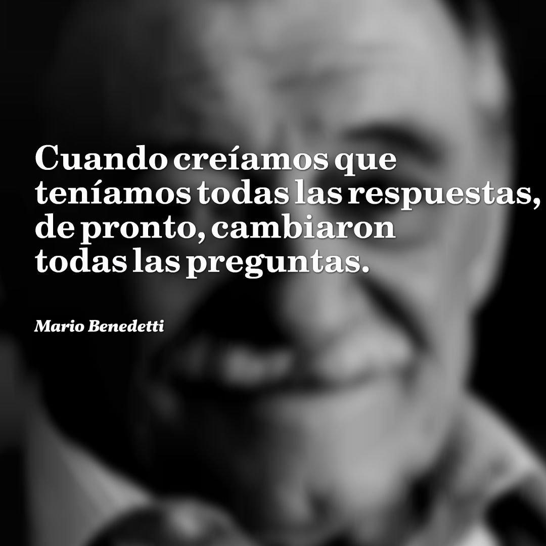 Hoy se cumplen 97 años del nacimiento del gran poeta Mario Benedetti.
