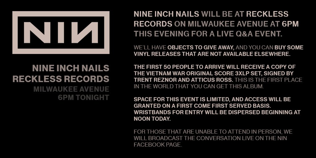 nin at reckless records