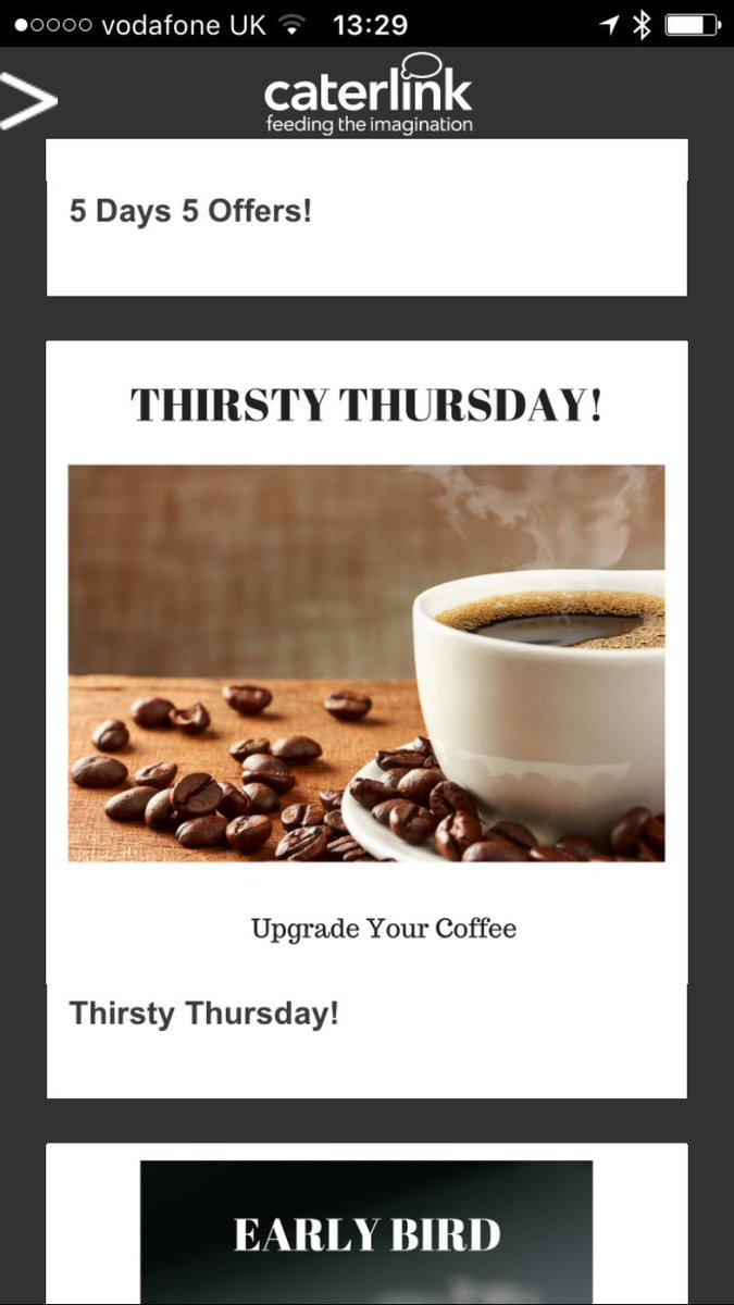Don&#39;t forget Thirsty Thursday Peeps! Upgrade your Coffee for 10p #caterlink #app @CTLaltoncollege download now to save ££££<br>http://pic.twitter.com/P1AvkiAruT