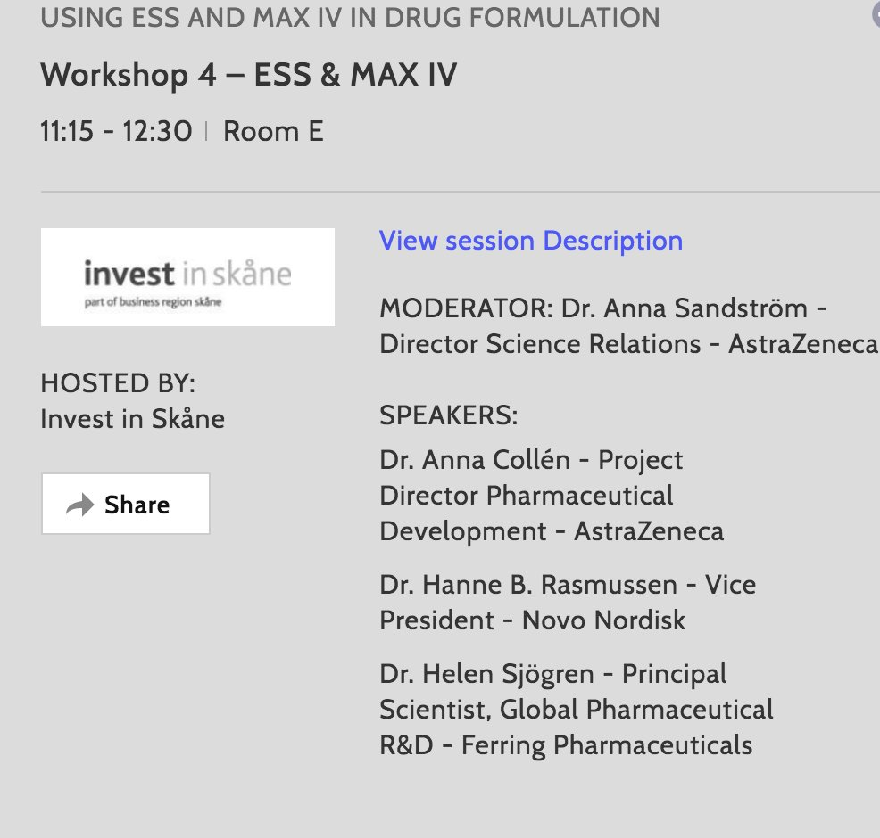 How can your company benefit from using MAX IV &amp; ESS when developing new drug formulations? Join the workshop. #nlsdays <br>http://pic.twitter.com/MJeYolwwcN