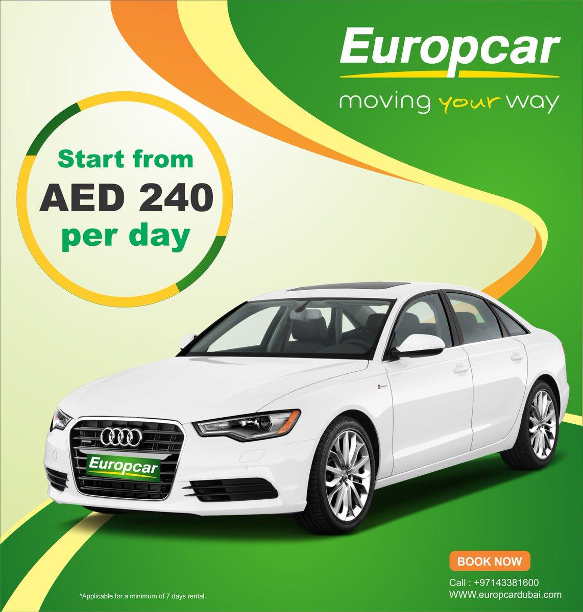 Europcar Dubai On Twitter Europcar Dubai Audi Car Rental Starts