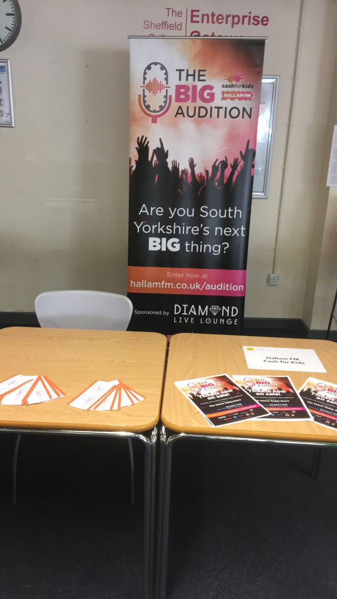 HallamCash4Kids: We are at the sheffcol freshers fairs today at Hillsborough, City and Peaks! Come and see us! #TS… <br>http://pic.twitter.com/3uFYtZU5vv