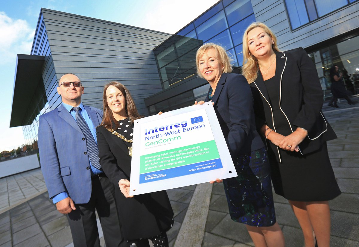 Belfast Met played host to the official launch of the North West Europe Interreg funded €9.39M #GenComm project!  http:// bit.ly/2h4G3qg  &nbsp;  <br>http://pic.twitter.com/YSSUJOLYDR