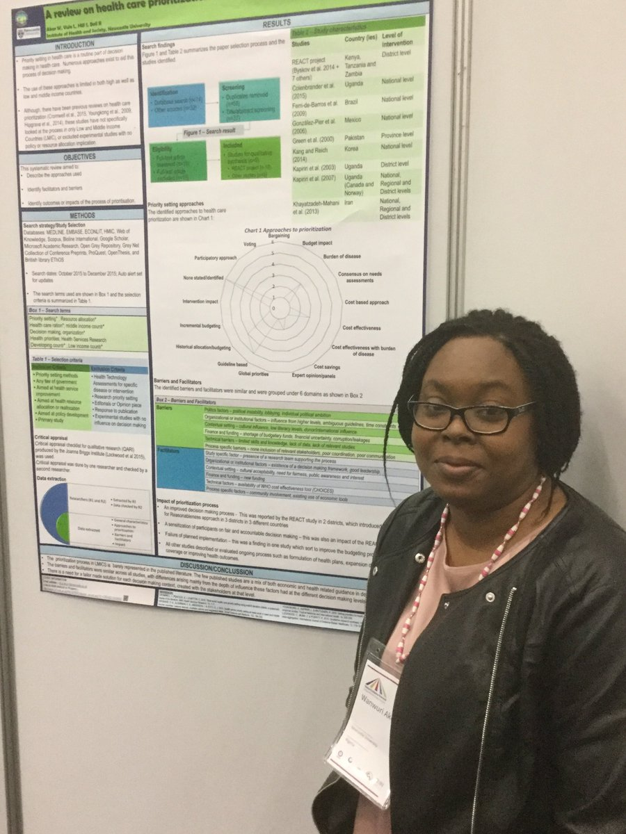 Wanwuri Akor (@maethan) presenting her poster on the use of priority setting methods in health care in Nigeria at @GESummit #healtheconomics <br>http://pic.twitter.com/TUjzQN2fBY