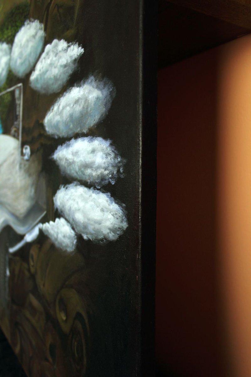 #artdetail of &quot;Multidimensional Death of Harmony&quot; 2014 #painting #artforsale to #artcollector #contemporaryart #side #surrealart  #mkanisko<br>http://pic.twitter.com/447vUosrGv