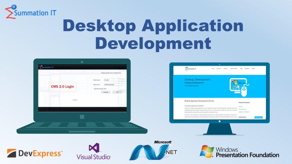 Our Team has rich experience in #Desktop #Application #Development #WinForms #development #WPF development @windowsdev @msdev @SQLServer<br>http://pic.twitter.com/J8ugCaqUSw