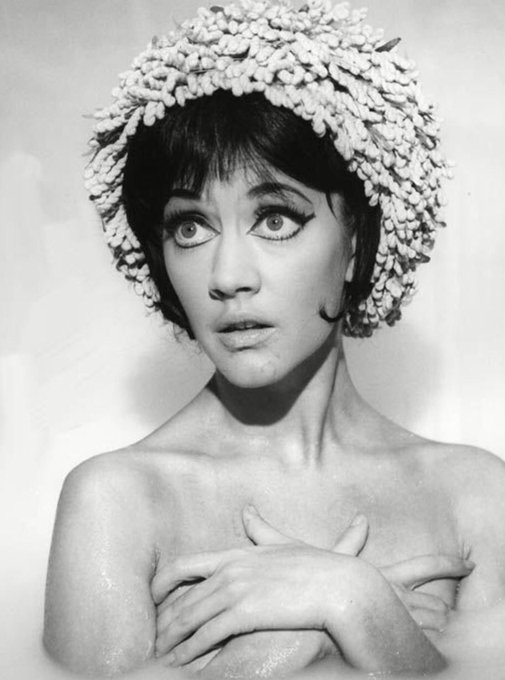 Happy 82nd birthday to the funny & feisty Amanda Barrie. Shown in 1964\s Carry on Cleo (her second Carry On film).