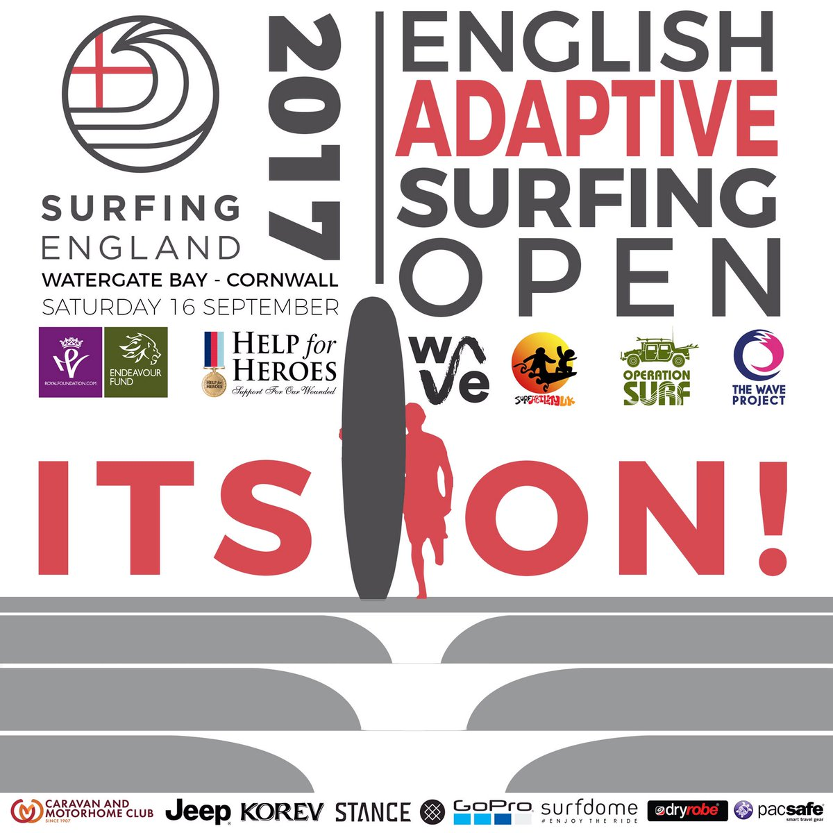 Surfing England on Twitter