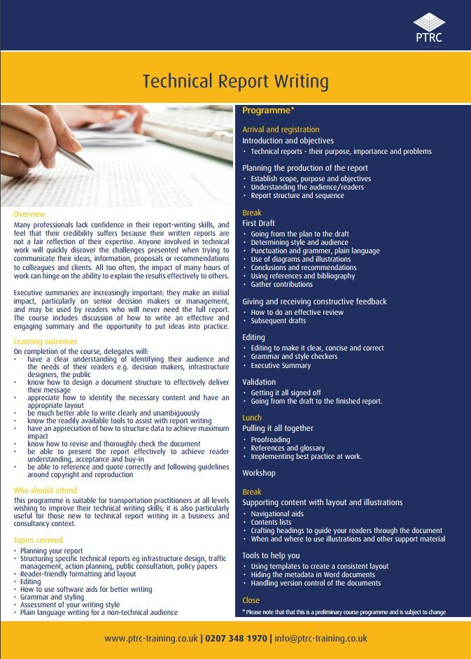 technical report writing template word