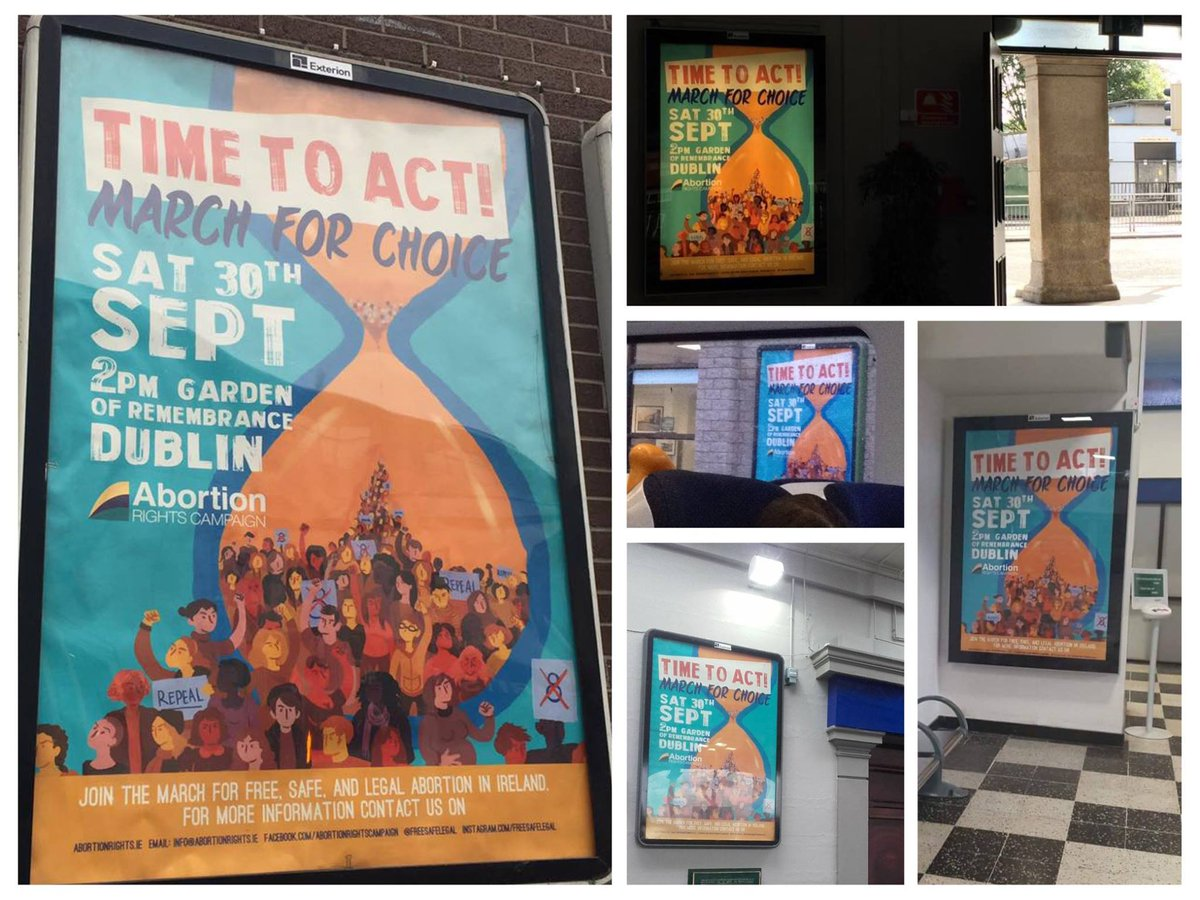Have you seen #ARCMarch17 posters up in 16 train stations across Ireland? A huge #milestone for #freesafelegal #repealthe8th #visibility! <br>http://pic.twitter.com/wvnobca0MO