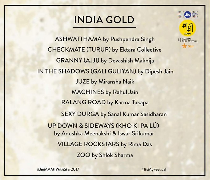 proud to share that IN THE SHADOWS(गली गुलीया) is selected in india gold section at #JioMAMIwithStar2017.@dipeshjainfilm @RanvirShorey https://t.co/5pReVsTiRk