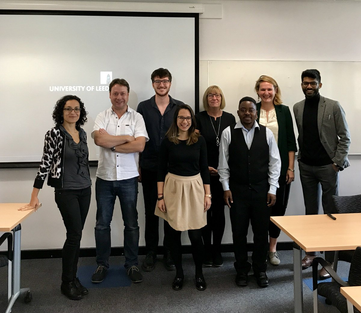 Today our 2016-17 MSc students presented their dissertation  #healtheconomics @AUHE_Leeds Well done all! And welcome to the 2017-18 cohort!<br>http://pic.twitter.com/4EGOZeNums