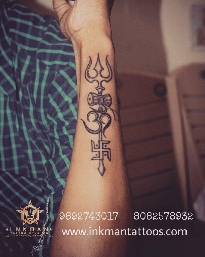 """InkMan Tattoo Studio On Twitter: """"Trishul #tattoo #tattoos"""