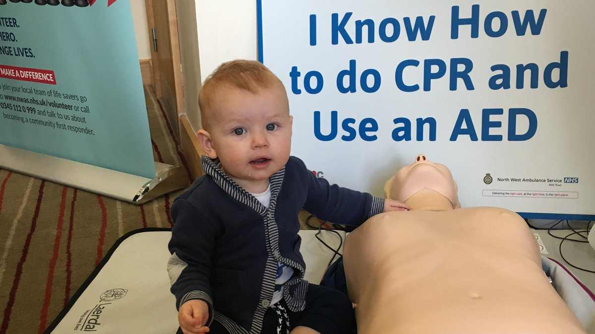 A young learner today @NWAmbulance anyone can learn these basic lifesaving skills #cardiacarrest <br>http://pic.twitter.com/0hBhhyldX4