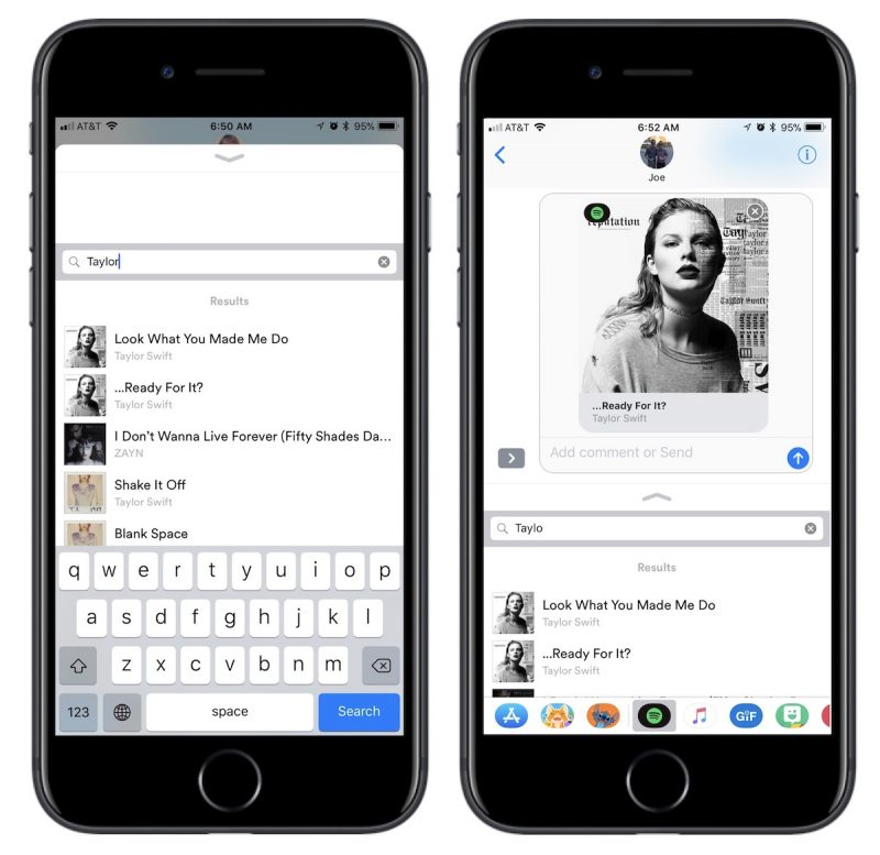 Spotify Launches iMessage App for Sharing Songs with Friends | Baaz