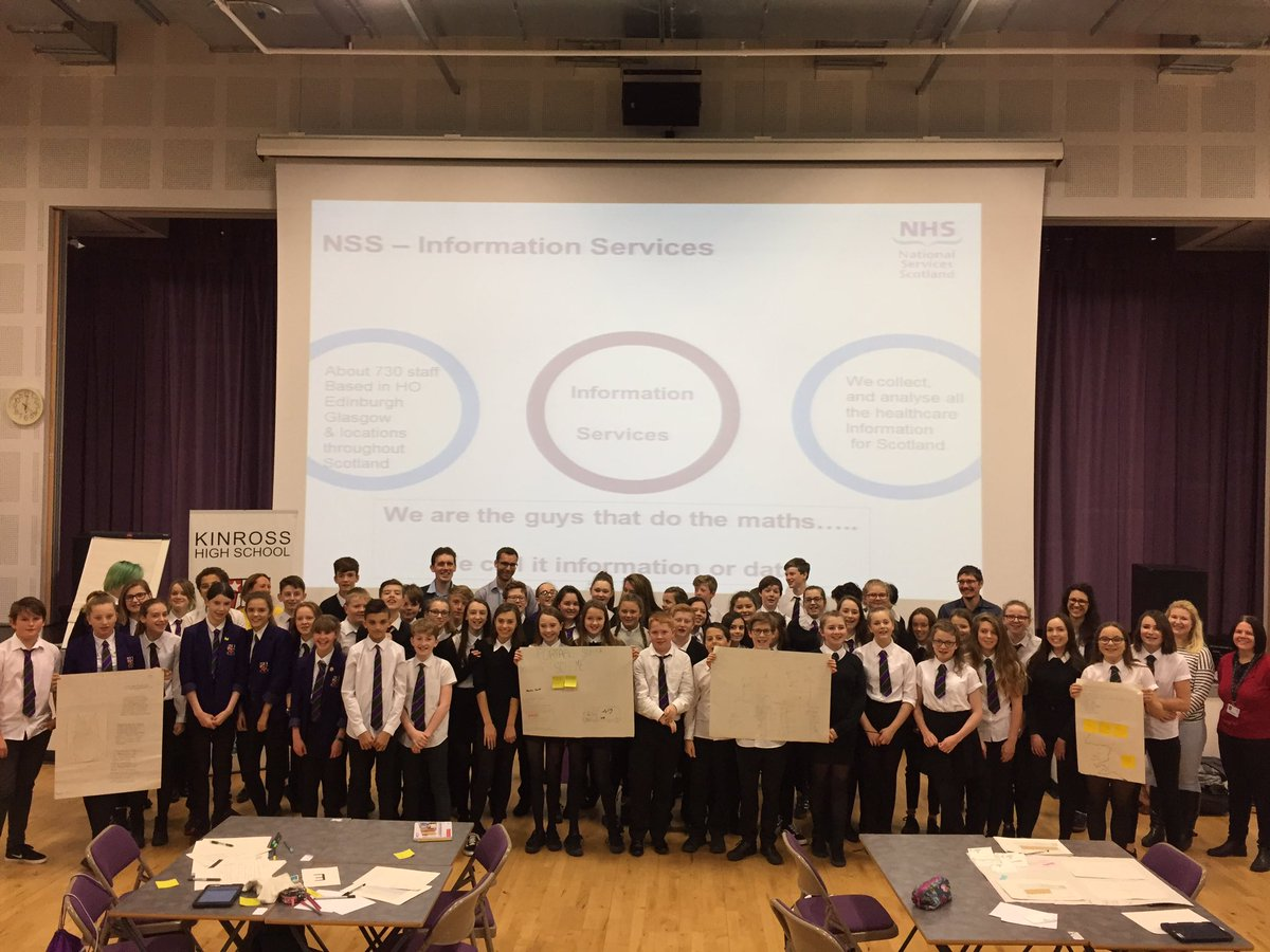 @kinrosshigh S2 pupils &quot;doing the maths&quot; with the @NHSNSS data scientists! @MathsScot @DataLabScotland @mbnsolutions #DataScientistV2 <br>http://pic.twitter.com/SkMNTBCPmh