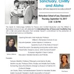 Today 3:30 PM: UH Geography PhD Student Borjana Lubura speaks at event about Sanctuary, Civility, and Aloha https://t.co/pAkJTOAZbc
