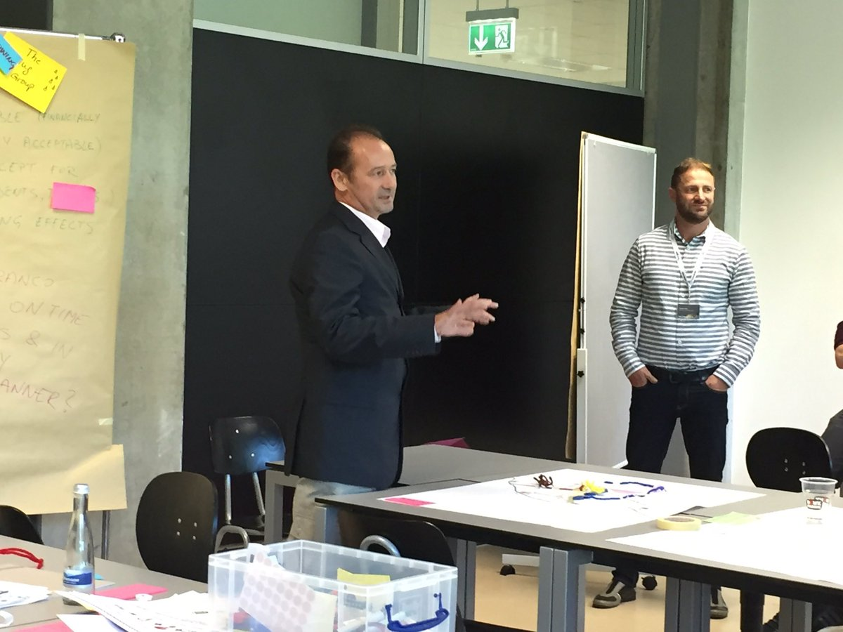 Presentations of prototypes at #UAAC2017 Train the trainer Design Thinking @HsKANews<br>http://pic.twitter.com/1O4vqC254y