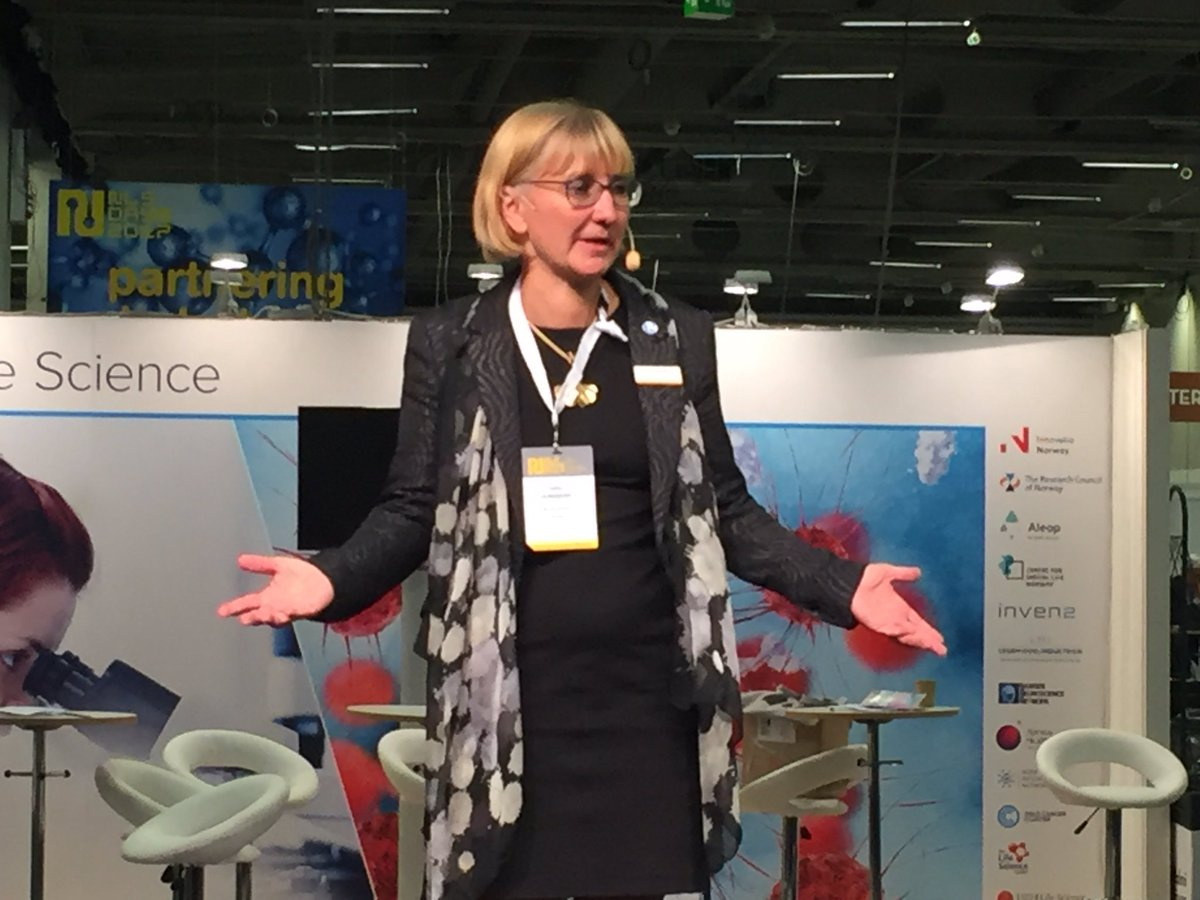 Lotta Ljungqvist, president and CEO at GE Nordic and SwedenBIO Board Member, now on stage about Nordic strengths #digitalhealth #nlsdays <br>http://pic.twitter.com/Al2TLTqggg