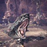 「ジュラトドス」は大蟻塚の荒地なる沼地に生息する大型魚竜。泥を利用して獲物を捕らえたり、身を護る。縄…