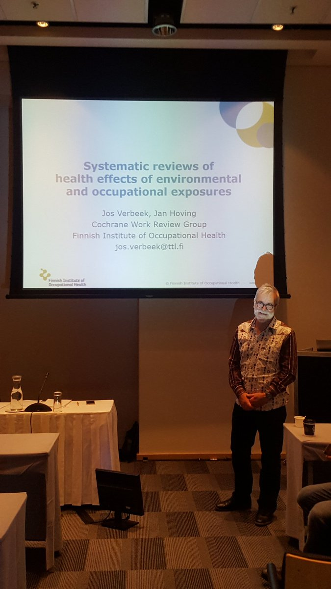 Anticipating an exciting workshop on #systematicreview of exposure studies #GESummit17 @josverb @cochranecollab<br>http://pic.twitter.com/b4Uq7dMTzg