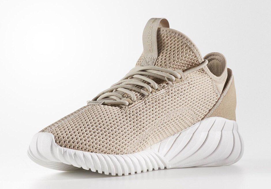 #ReleaseDate The Adidas Tubular Doom Sock Primeknit 'Tan' is now available  via @footlocker! ...