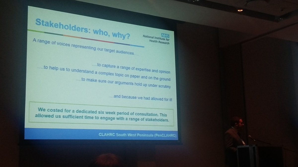Thanks to @OfficialNIHR support we  engaged extensively with stakeholders #tlc4ltc @GESummit @PenCLAHRC @ExeterMed<br>http://pic.twitter.com/vVBig8vszX