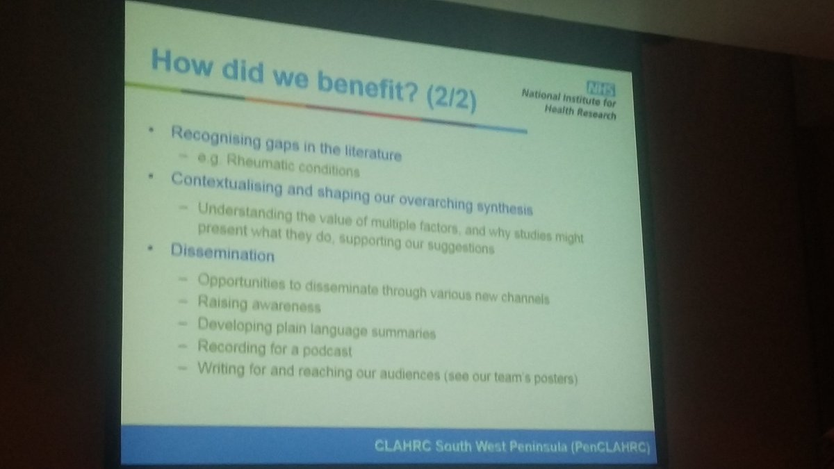 How did the project benefit from stakeholder engagement? @OfficialNIHR #GESummit17 #tlc4ltc @PenCLAHRC @ExeterMed<br>http://pic.twitter.com/YV8LX3oqjv