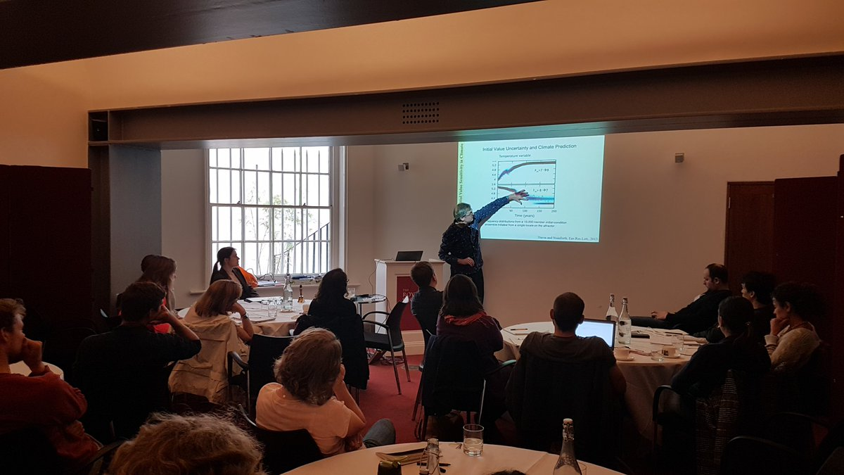 Brilliant talk given on future climate ensembles for #NERC #UUEM  course @royalsociety today: chaos, model fidelity and the Hawkmoth effect!<br>http://pic.twitter.com/h5yI7Wnwnj